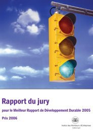 2006 - Award for Best Belgian Sustainability Report