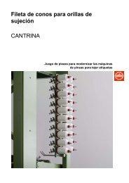 Fileta de conos para orillas de sujeción CANTRINA - Jakob Müller AG
