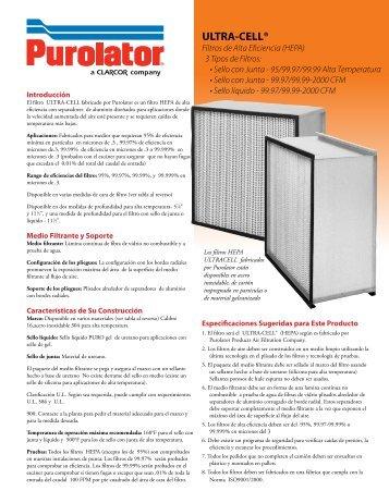Folleto - Purolator Air Filtration
