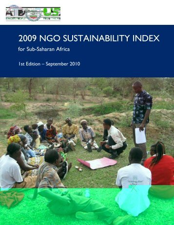 The 2009 NGO Sustainability Index for Sub-Saharan Africa