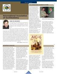 International Association of GeoChemistry - Elements