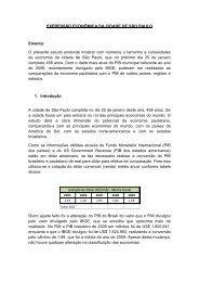 EXPRESSÃO ECONÔMICA DA CIDADE DE SÃO ... - Fecomercio