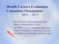 HCEC Letter - Cornell Career Services