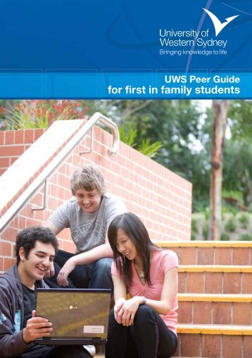 for first in family students - University of Western Sydney