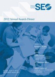 2012 Annual Awards Dinner - Sponsors for Educational Opportunity