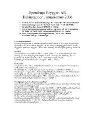 Delårsrapport 1-2006 - Spendrups