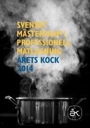 Inbjudan Årets Kock 2014 (PDF) - Spendrups