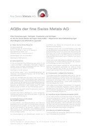 AGBs der fine Swiss Metals AG - fine-swiss.ch