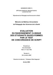Evaluation du raisonnement clinique des étudiants sages ... - CPASS