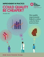 Could quality be cheaper.pdf - Health Foundation