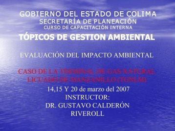 Evaluación del impacto ambiental - Gobierno del Estado de Colima