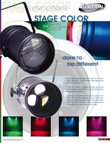 Color Brochure (pdf) - Elation Professional