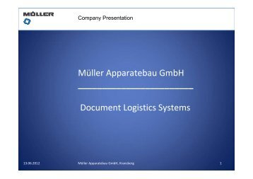 Series 9000 C4 + C5 + DL size - Müller Apparatebau GmbH