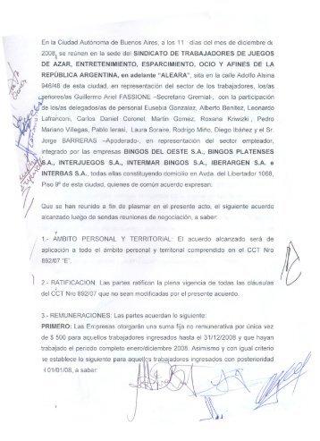 a Lafranconi,Carlos Daniel Coronel, Martin Gomez ... - ALEARA