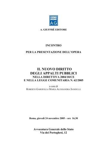 Il nuovo diritto degli appalti pubblici nella Direttiva ... - Giustamm.it