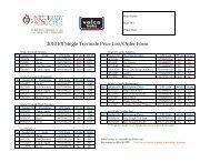 2010 EX Single Tri-mode Price List/Order Form - Valco Baby