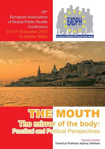Congress-Flyer - European Association of Dental Public Health eV