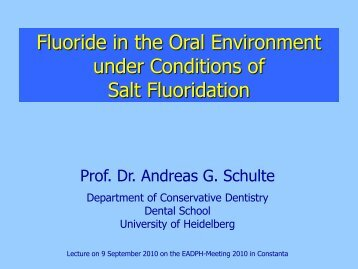 Fluoride in the Oral Environment under Conditions of Salt Fluoridation