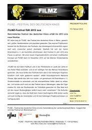 FILMZ-Festival fällt 2012 aus