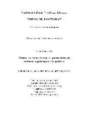 Universit e Paris $ - Denis Diderot TH 7ESE DE DOCTORAT ...