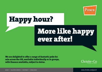 Happy hour? More like happy ever after! - Christie + Co Corporate