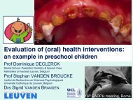 (oral) health interventions
