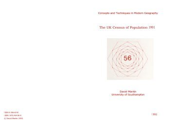 The UK Census of Population 1991 - (QMRG) – Royal Geographical ...