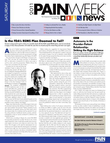 Is the FDA's REMS Plan Doomed to Fail? - PAINWeek