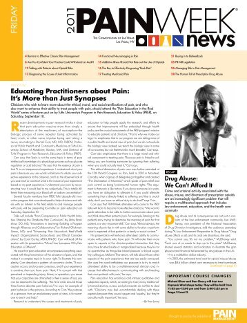 Educating Practitioners about Pain - PAINWeek