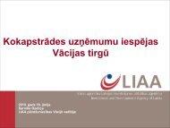 Kokapstrādes uzņēmumu iespējas Vācijas tirgū - LIAA