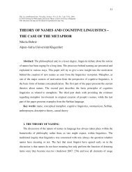THEORY OF NAMES AND COGNITIVE LINGUISTICS - Universität ...