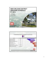 new orleans district dredging schedule fy 2013 - U.S. Army