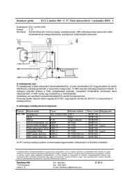 Rendszer példa ECL Comfort 300 + C 37 Fűtés hőcserélővel + ...