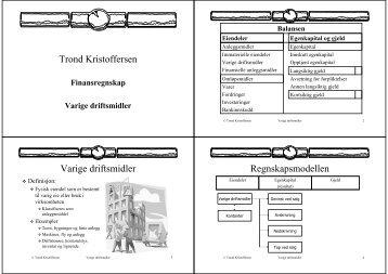 Finansregnskap Varige driftsmidler - Fagbokforlaget