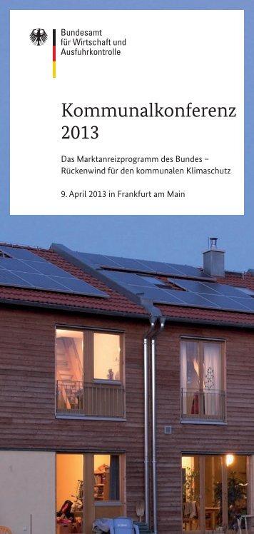 Kommunalkonferenz 2013: Flyer - Bundesamt für Wirtschaft und ...