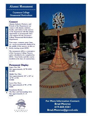 Alumni Monument Alumni Monument - Cuyamaca College