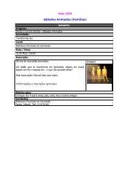 Sábados Animados (Famílias) - Câmara Municipal de Oeiras