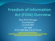 Freedom of Information Act (FOIA) Overview - Air Force Freedom of ...