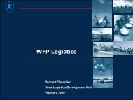 WFP Logistics - The Supply Chain and Logistics Institute - Georgia ...