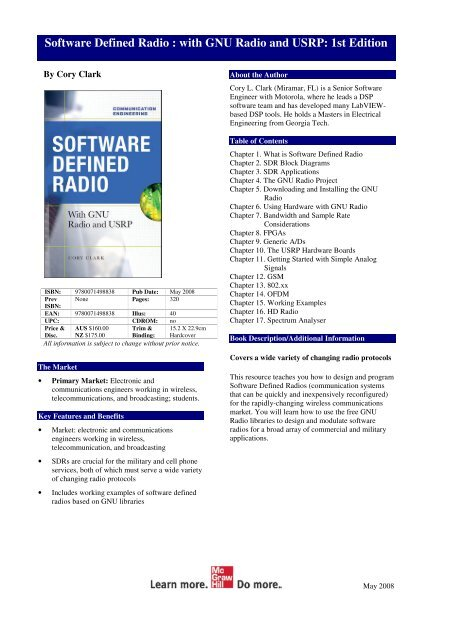 Software Defined Radio With GNU Radio And USRP 1st Edition