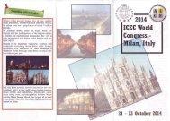 ICEC 9th World Congress & Council Meeting, 19-23 October 2014 ...