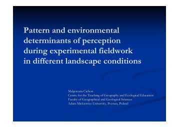 Pattern and perception in environmental-based fieldwork