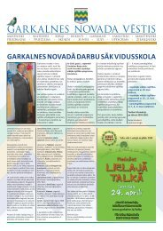 GARKALNES NOVADA VĒSTIS - Garkalnes novads