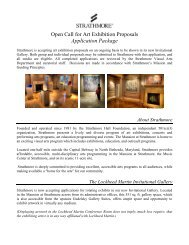 Open Call for Art Exhibition Proposals Application ... - Strathmore