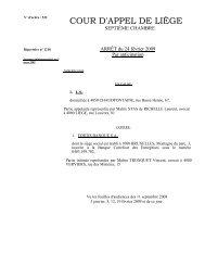 L'arrêt de la Cour d'appel de Liège du 24 février 2009 - Juridat