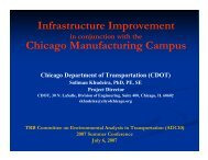 Infrastructure Improvement in Conjunction with the Chicago