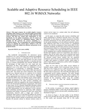 Scalable and Adaptive Resource Scheduling in IEEE 802.16 WiMAX ...