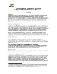 Active Community Transportation Act of 2010 U.S. Representative ...