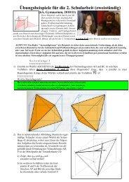Übungsbeispiele für die 2. Schularbeit (zweistündig) - Matheprof.at