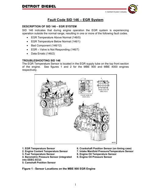 Fault Code SID 146 – EGR System - ddcsn